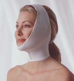 Adjustable Face & Neck Plastic Surgery Compression Garment (Covered Ear) (Rainey)