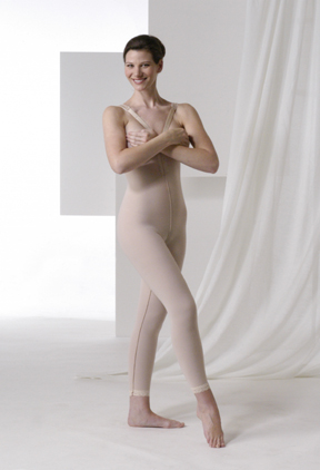 High Back Plastic Surgery Compression Garment - Stage 2- Mid Calf (Rainey)