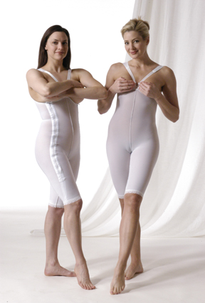 High Back Cosmetic Surgery Compression Garment Kit  - Stages 1& 2- Above Knee (Rainey)