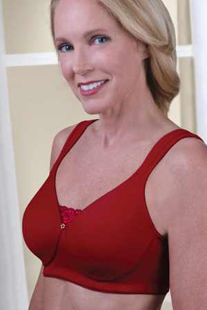 Jodee Soft & Smooth Seamless Molded Bra (Red)