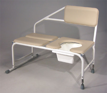 Tub Transfer Bench w/ Padded Commode Seat (600 lb capacity)