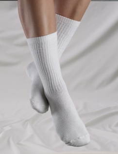 Truform Men Crew Mid-Calf Therapeutic Support Socks (15-25 mmHg, Closed Toe) - 1932