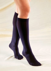 Truform Ladies Trouser Knee-High Support Socks - Rib Pattern (10-20 mmHg, Closed Toe) - 1973