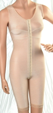 Full Body Cosmetic Surgery Compression Garment W/Bra - Above Knee - Stage 1 (Marena)