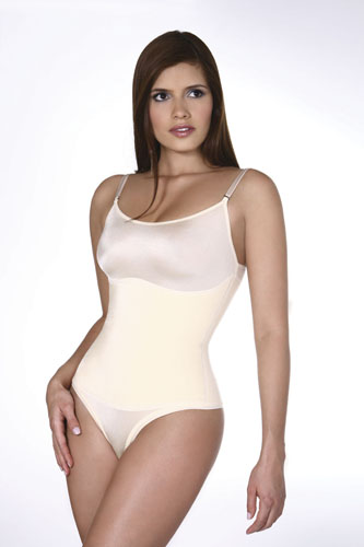 Vedette Lea Firm Control Body Suit w/Adjustable Strap & Thong