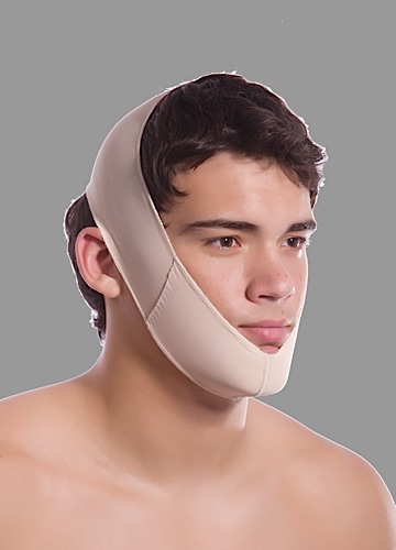 Plastic Surgery Double Panel Chin Strap Support Compression Garment