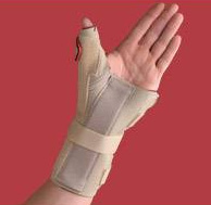 Carpal Tunnel Brace w/Thumb Spica  Left  Beige  X-Large