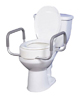 Elevated Toilet Seat w/Arms For Elongated Toilet Seats T/F