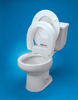 Raised Toilet Seat Elongated Hinged