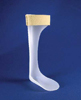Semi-Solid Ankle Foot Orthosis Drop Foot Brace Small Left