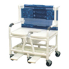 Shower Commode Chair Bari PVC w/Dlx Elong Open Soft Seat