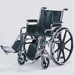 Alex Orthopedic Detachable Desk Arm Wheelchair With Padded Elevating Legrests