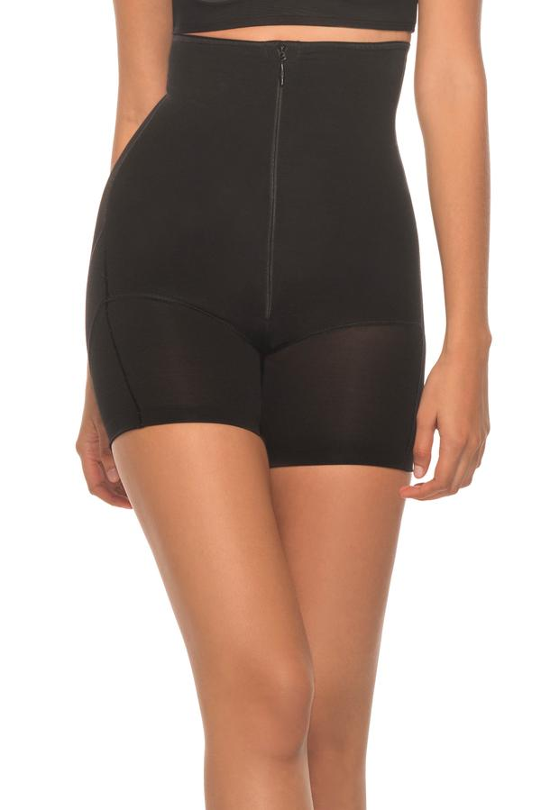 Annette Women's Extra Firm Control High Waist Boy Short with Front Zipper