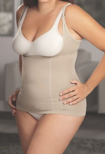 Co'Coon Linea Braless Shapewear T-Shirt Plus Size (w/ Marine Algae)