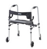 Drive Clever Lite LS Rollator Walker with Seat and Push Down Brakes