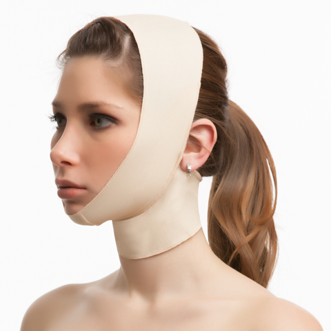 Plastic Surgery Face Support Compression Garment w/Medium Neck Support