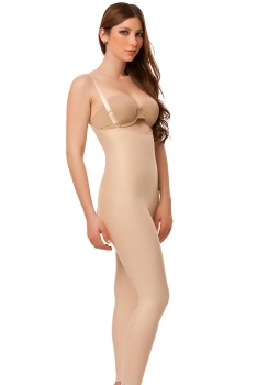 High Back Ankle Length Plastic Surgery Compression Garment- Stage 2