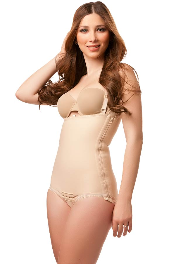 High Back Plastic Surgery Compression Garment w/Zipper- Stage 1