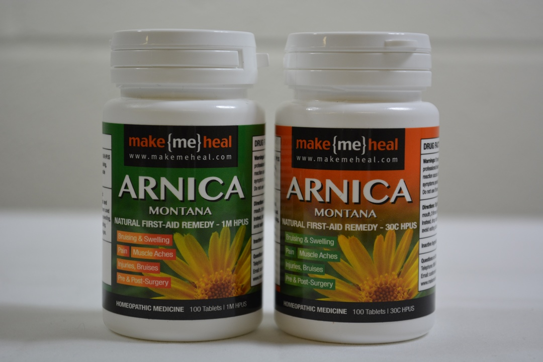 MakeMeHeal Pre & Post-Operative Arnica Montana Swelling & Bruising First-Aid Remedy Kit (2 Bottles | 1M & 30 C Strengths)