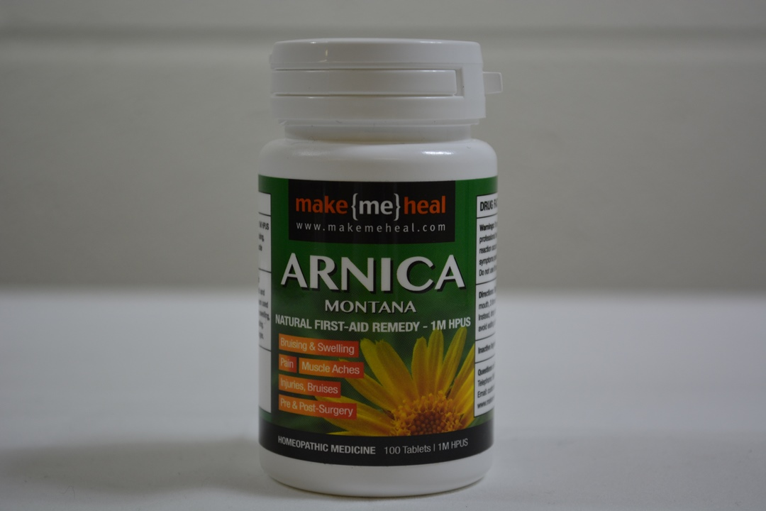 MakeMeHeal Arnica Montana Swelling & Bruising First-Aid Remedy – 1M Strength (100 tablets)
