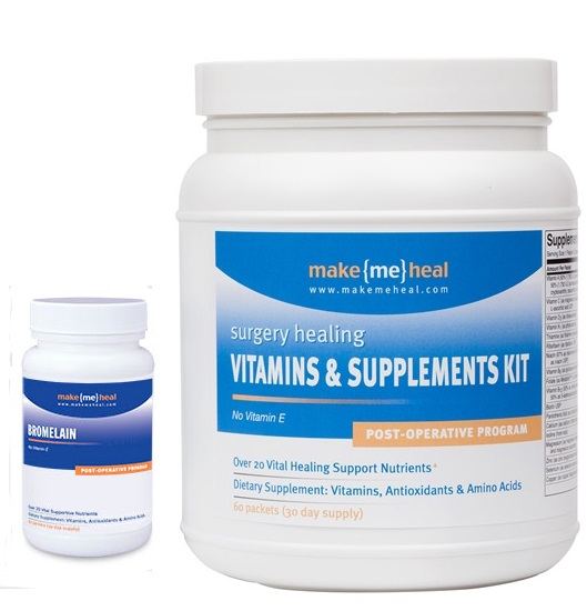 MakeMeHeal Ultimate Vitamins & Supplements Recovery Kit - with Bromelain Swelling Support Formula