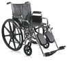 "Excel 2000 Wheelchair w/ Removable Arms and Detachable Elevating Legrests (20"", Black)"