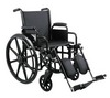 "Excel K3 Wheelchair w/ Removable Arms and Detachable Elevating Legrests (16"", Black)"