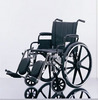 Excel K4 Wheelchair w/ Swing Back Full Length Arms and Elevating Legrests (18in black)