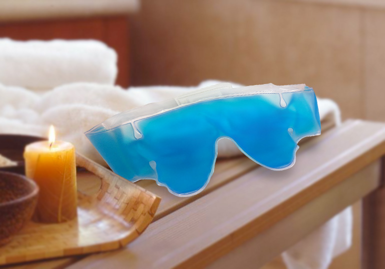 MakeMeHeal Blue Reusable Cold & Hot Soothing Eye Ice Pack (for Tired & Puffy Eyes, Post Surgery)