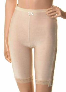 Abdominal Low Waisted Compression Garment - Mid Thigh - Stage 1 (Marena)- Opened- 2 SIDE ZIPPERS